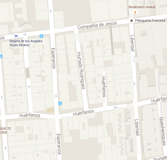Esperanza paralela a Libertad en Google Maps.
